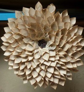 Large paper craft flower.